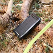 Externer Ladegerät 300000mAh Solar Powerbank Portable Zusatzakku mobile Tragbare