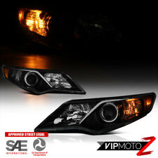 "For 12-14 Toyota Camry ""DARKEST Black Smoke"" Halogen Projector Headlights Pair"