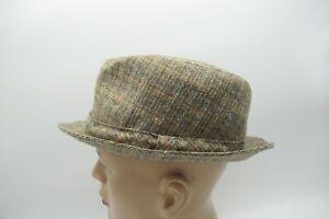 Mans Vintage Grey Felt Fedora Hat By A. Breiter Munchen pure new wool trilby S