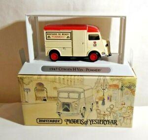 MATCHBOX M O Y - A TASTE OF FRANCE - 1947 CITROEN TYPE H VAN - POMMERY - YTF6