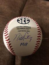 "Nick Fortes Signed Rawlings SEC Baseball W/COA Ole Miss "" MVP """