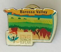 Barossa Valley Australia Sydney 2000 Olympics Torch Relay Pin Badge Vintage (J9)