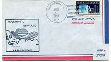 FFC 1984 First Flight Rockford Illinois Denver Colorado US Postal Service