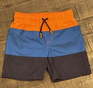 Cat & Jack Boys Lined Color Block Swim Suit Sz4T NWOT