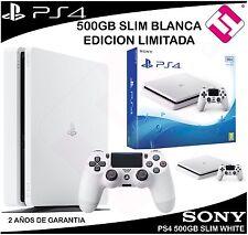 VIDEOCONSOLA SONY PS4 PLAYSTATION 4 500GB SLIM BLANCA EDICION LIMITADA ESPECIAL