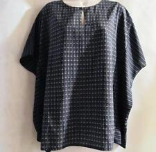 BELLE GRAY by LISA RINNA~ Black & White Print Tunic Top~Size S~New Without Tags