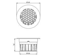 Circular floor ventilator round van vehicle floor vent Black Plastic air inlet .