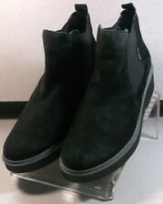 EMIE BLACK LMMSBTS90 Women's Shoes Size 8.5 EUR 6 Suede Pull On Boots Mephisto