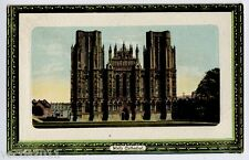 Wells, Somerset, England A & G Taylor's Orthochrome Postcard - Cathedral - 1909