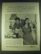 1958 Nestle's Home Made Assortment of Fine Chocolates Ad - thank you, darling!
