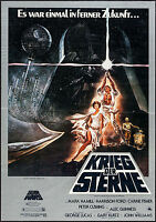 "Poster Star Wars A New Hope 1977 German A1 23.5""x33"" VF 7.0 Krieg Der Sterne"