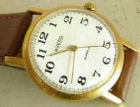 Wostok Vostok USSR wristwatch 18 j 2209 caliber gold plated