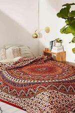 Indian Mandala Leharia Quilt Duvet Cover Bedding Set Cotton Double Size