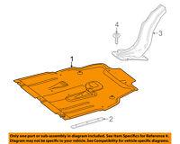 Mercedes MERCEDES-BENZ OEM 14-16 CLA45 AMG Splash Shield-Engine Cover 1765200023