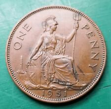 More details for 1951 george vi penny scarce coin #689
