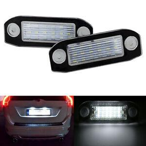 For Volvo S80 XC90 S40 V60 XC60 S60 C70 V50 XC70 V70 LED license plate lights 2x