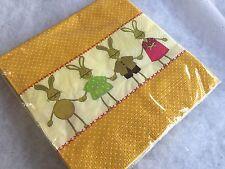 20 X Boy Girl Bunny Paper Easter Napkins Gisela Graham Table Vintage 3 Ply