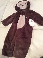 Pottery Barn Kids Baby Monkey Halloween Costume 0-6 Months NWT! Soft Fas Ship