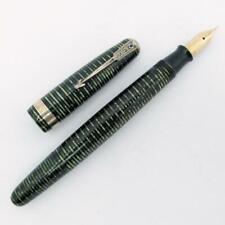 Vintage 1944 Parker Vacumatic Fountain Pen Emerald Pearl - Fine Arrow Nib