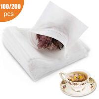 200pcs Empty Teabags Disposable String Heat Seal Filter Paper Herb Loose Tea Bag
