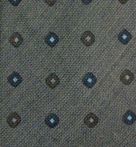 Gray Blue Foulard Wool Tie