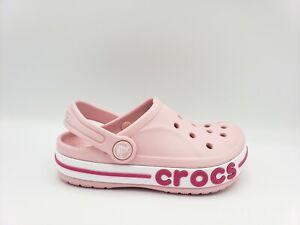 Crocs Kids Bayaband Clog Pink Unisex Shoes/Sandals (Multiple Sizes)