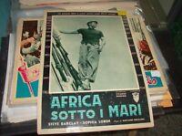 Africa Sotto the Seas Fotobusta Small Original 1953 S.Barclay S.Loren Type B