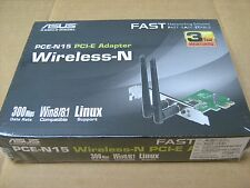 PCE-N15 ASUS WiFi Adapter PCI-Express WLAN 300Mbps 802.11bgn 2x Antenna N300 New