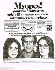 PUBLICITE ADVERTISING 075 1977 Les OPTICIENS ATOL lunettes ae5f8a1eee98