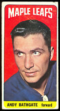 1964 65 TOPPS TALL BOYS HOCKEY #86 ANDY BATHGATE VG-EX TORONTO MAPLE LEAFS CARD