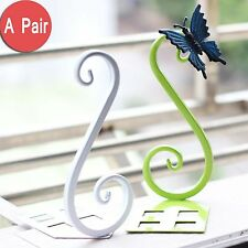 2x bookends metal book ends steel bookstand shelf holder modern colorful
