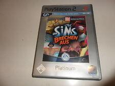 PlayStation 2  PS 2  Die Sims brechen aus [Platinum](3)