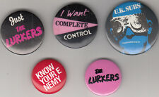 70s Punk Rock New Wave Memorabilia U.K. SUBS + 4 UK Set Of 5 Original Badges