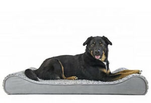 Luxury Dog bed  Orthopedic Ultra Plush Faux Fur Luxe Lounger Size MEDIUM