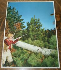 "Vintage 1953 Shotgun Hunting Lithograph ""On The Wing"" Pheasant Grouse Quail"