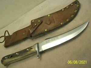 1970~PUMA SKINNER 6393~PREMIUM STAG HUNTING KNIFE w/ORIGINAL SHEATH~BARELY USED~