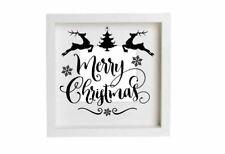 Merry Christmas Reindeer Santa Decal Vinyl Sticker Box Frames Tree Decorations