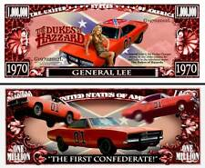 General Lee ~ Dukes of Hazzard ~ Million Dollar Bill Funny Money Novelty Note