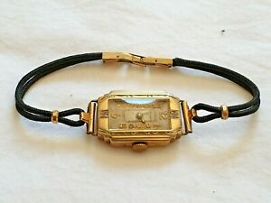 Vintage 1930's Waltham Art Deco Ladies Watch- For Repair