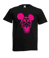 Maglietta  personalizzata Topolino Paperino T-shirt colre nero