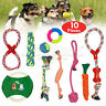 ROPE TOYS DOG PET PUPPY TEETHING, ASSORTED CHEW TOYS UK STOCK SETS 10 PIECES