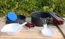 1 Person Anodised Aluminium Cooking Set - Portable Camping Travel Cookware New