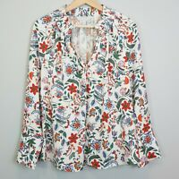 [ VERONIKA MAINE ] Womens Floral Print Blouse Top - As New |  Size AU 12 or US 8