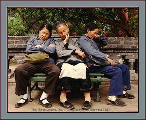 Master photographer Michael Seewald's 'The Three Graces, Xian China '87- #8/10