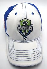 SEATTLE SOUNDERS FC CLUB white / blue adjustable cap / hat - SOCCER