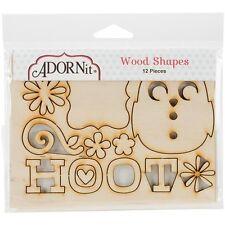 Adorn-It Nested Owl Mint Laser-Cut Wood Shapes - 524371