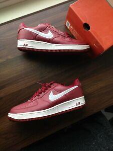 Piquete Persuasivo Una buena amiga  Las mejores ofertas en Nike Rojo Nike Air Force 1 Zapatos Deportivos para  Hombres   eBay