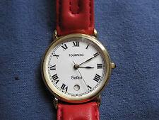 #376 mans/ladys    gold plate TOURNEAU safari watch