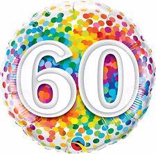 Ballon Aluminium 40 Confettis Multicolore 45 cm 18 Qualatex
