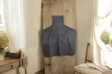 vintage Work wear APRON work clothes textile cotton French blue